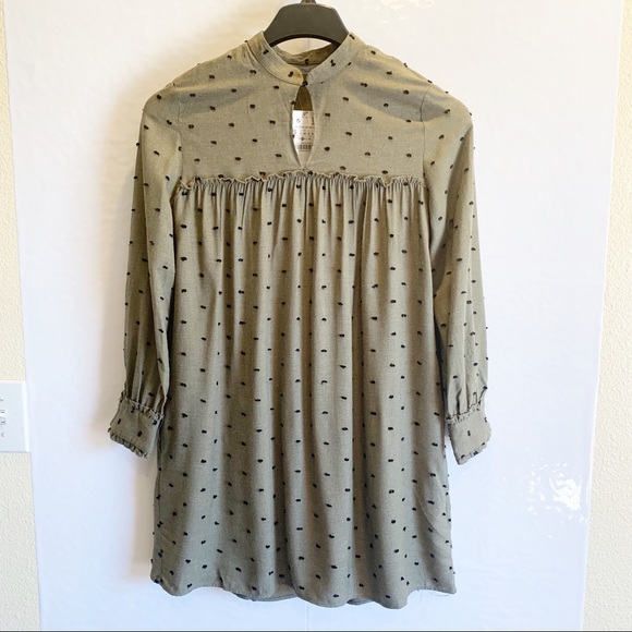 Zara Dresses & Skirts - Zara Green Long Sleeve Dress